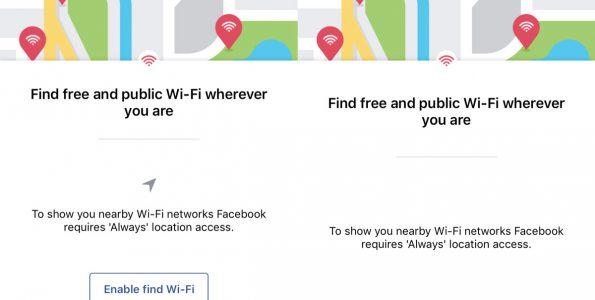 Facebook Find WiFi Feature