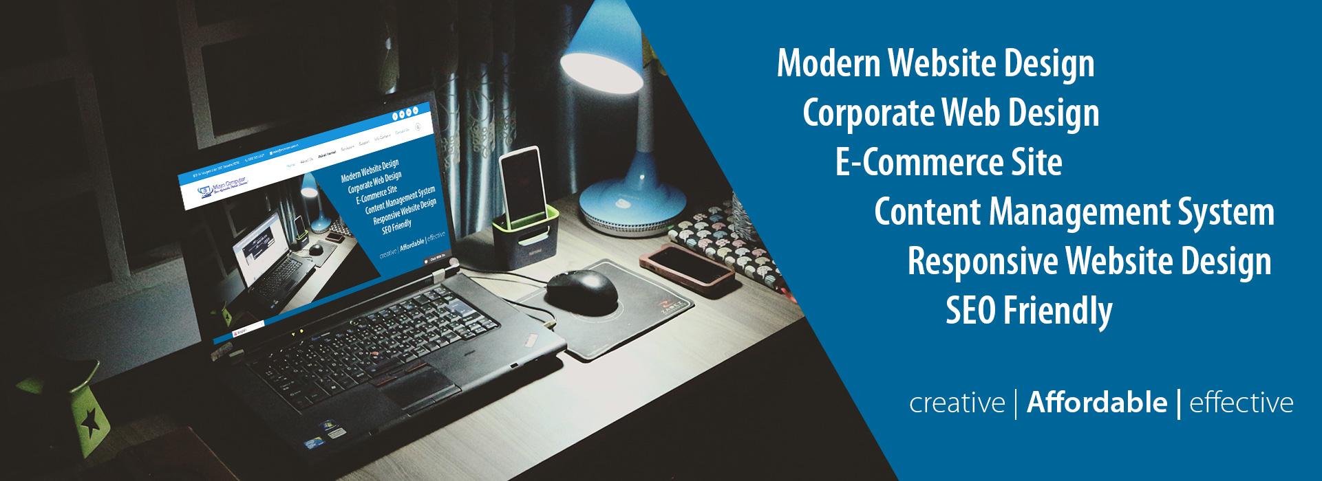 Pembuatan Website. Mizan Computer menyediakan dengan Harga Terjangkau. Layanan tersedia untuk seluruh wilayah di Indonesia dan luar negeri. Hubungi Mizan Computer untuk kebutuhan pengembangan dan pengelolaan website anda sekarang juga.